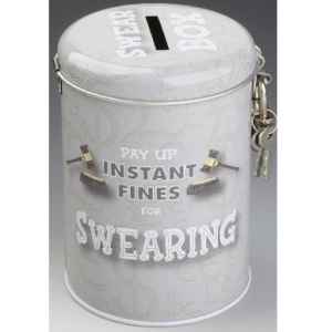 Swearing fine money box tin TAOS Gifts