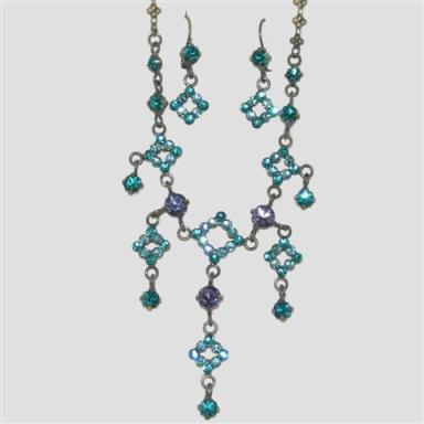 Stunning blue crystal costume jewellery at TAOS Gifts