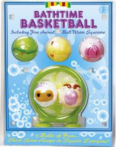 Comic animal squirty balls basketball bath game at TAOS Gifts