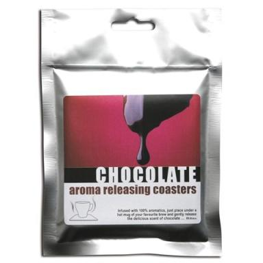 chocolate aroma releasing drink mat, pack of 5 coasters at TAOS Gifts