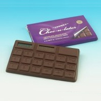 Chocolate scented calculator novelty gifts at Taos Gifts