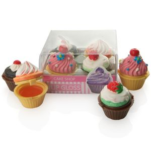 cupcakes Lip gloss gift boxed set of four novelty gifts at taos gifts