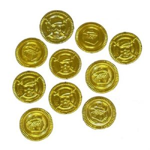 gold pirate coins play money at taos gifts